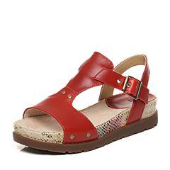 CAT/卡特春夏红色牛皮革女户外休闲鞋粗犷装备(Rugged)P309426G2HLR40