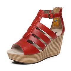 CAT/卡特春夏红色牛皮革女户外休闲鞋粗犷装备(Rugged)P309420G2HLR40