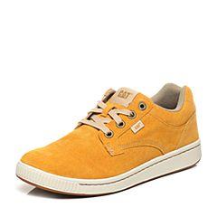 CAT/卡特专柜同款橙黄色猪皮男户外休闲鞋P721066G1FMA32