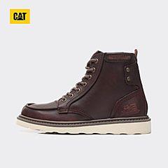 CAT/卡特2017秋冬季新款棕色牛皮/牛剖层革男户外休闲鞋P712950G3EDR36