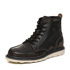 CAT/卡特秋冬黑色牛皮/牛剖层革男户外休闲鞋P712947G3EDR01