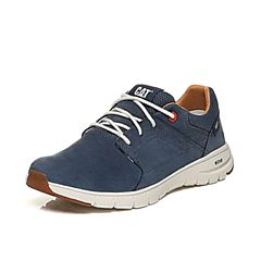 CAT卡特2018春夏季蓝色牛皮革/织物男士户外休闲鞋活跃装备(Active)P722307H1MMA75
