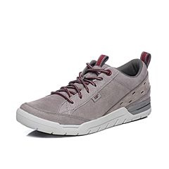 CAT卡特春夏季灰色牛皮革男士户外休闲鞋活跃装备(Active)P722140H1FMA07