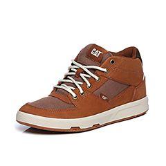 CAT卡特2018春夏季棕色牛皮革/织物/合成革男士休闲靴活跃装备(Active)P722087H1YDA36