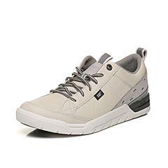 CAT卡特春夏季米白色牛皮革/牛剖层革男士户外休闲鞋活跃装备(Active)P721157H1FMA11