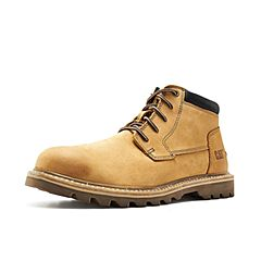 CAT卡特2018秋冬新款卡特黄色牛皮革男子休闲靴P721555H3BDR28