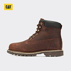 CAT卡特2018秋冬新款棕色牛皮革男子休闲靴P720275H3BDR33
