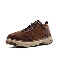 CAT卡特春?#30007;?#27454;棕色牛皮革男子休闲单鞋P722248I1MMC36