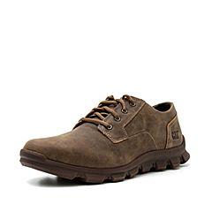 CAT卡特春?#30007;?#27454;棕色牛皮革男子休闲单鞋P723251I1UMC36