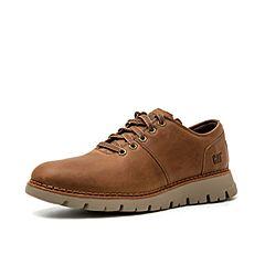 CAT卡特春?#30007;?#27454;棕色牛皮革男子休闲单鞋P723124I1UMC36