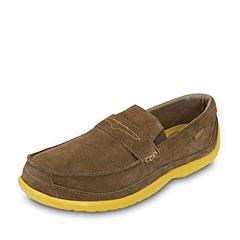 crocs卡骆驰 男子 春夏专柜同款领尚沃尔卢麂皮便鞋 赤褐/淡黄 满帮鞋休闲鞋  15940-2N6
