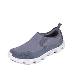 crocs卡骆驰 男子  专柜同款  男士迪特帆布便鞋 炭灰/珍珠白 满帮鞋帆船鞋休闲鞋 201885-01R