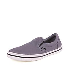 Crocs卡骆驰  男子  专柜同款 诺林男式帆布便鞋 炭灰/白 洞洞鞋 凉鞋 沙滩鞋 201084-04O