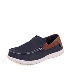 Crocs卡骆驰  男子 专柜同款 圣克鲁兹帆布便鞋二代 深蓝/榛子色 洞洞鞋 凉鞋 沙滩鞋 202056-4R9