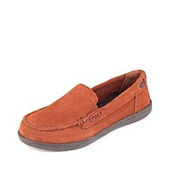 Corcs 卡骆驰 女子 专柜同款 女士沃尔卢便鞋 肉桂色/深咖啡 满帮鞋帆船鞋休闲鞋 14415-2D5