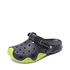 Crocs卡骆驰 男子 春夏 专柜同款 激浪男士克骆格 黑色/翠绿 沙滩 旅行 戏水 洞洞鞋202251-09W