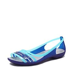 Crocs卡骆驰 女子 春夏 专柜同款 女士伊莎贝拉平底凉鞋 蔚蓝 沙滩 旅行 戏水 凉鞋202463-4O5