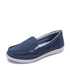 Crocs卡骆驰 女子 春夏 专柜同款 女士沃尔卢帆布便鞋二代深蓝/银色  休闲 旅行 202489-488