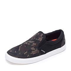 Crocs卡骆驰 男子  专柜同款 男士都会街头迷彩男士便鞋 迷彩/黑色 旅行 便鞋 休闲鞋203651-938