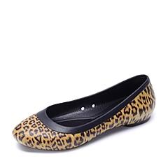 crocs卡骆驰 女子   专柜同款 莉娜豹纹平底鞋  豹纹 203793-90L