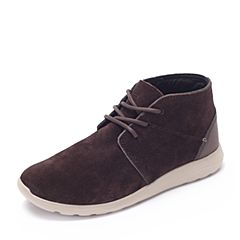 Crocs卡骆驰 专柜同款 秋季男士 塞尔王短靴 深咖啡/卵石色 203391-2U1