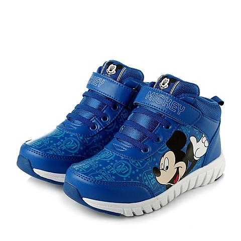 disney/迪士尼2013冬季蓝色pu男小中童跑步鞋s77077