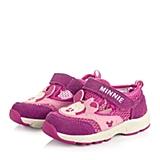 DISNEY/迪士尼童鞋2015春季新款反毛皮/织物桃红女婴幼童机能鞋休闲鞋CS0367