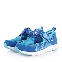DISNEY/迪士尼童鞋2015春季新款反毛皮/织物蓝色男小中童休闲鞋DS0557