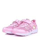 HELLO KITTY/凯蒂猫童鞋春季新款PU/织物粉色女小中童运动鞋DI3295