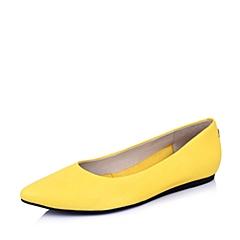 Hush Puppies/暇步士2015春专柜同款黄色山羊皮女鞋HIG03AQ5