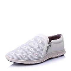 Hush Puppies/暇步士2016春季专柜同款白山羊皮革女休闲鞋HJM23AM6