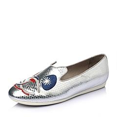 Hush Puppies/暇步士2016春季专柜同款银牛皮趣味图案女休闲鞋HAV42AM6