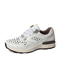 Hush Puppies/暇步士2016春季专柜同款白色牛皮革女休闲鞋 专柜1 HIE39AM6
