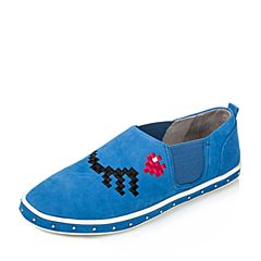 Puppies/暇步士秋季专柜同款兰色磨砂牛皮女休闲鞋HJP24CM6