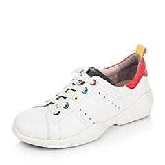 Hush Puppies/暇步士2016秋季专柜同款白色牛皮/羊皮女休闲鞋HKP33CM6