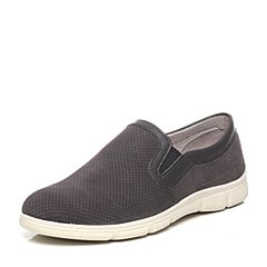Puppies/暇步士春季专柜同款浅黑色牛皮舒适轻便男休闲鞋板鞋L1B02AM7