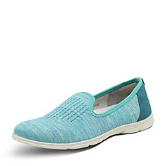 Hush Puppies/暇步士2017春季专柜同款浅蓝色织物套脚平跟女休闲鞋L1A01AM7
