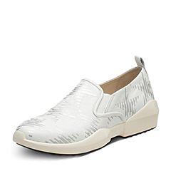 Hush Puppies/暇步士2017专柜同款春季白色牛皮女休闲鞋HKP37AM7