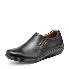 Hush Puppies/暇步士2017秋季新款专柜同款黑色牛皮舒适商务休闲男皮鞋X1H06CM7