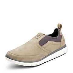 Puppies/暇步士秋季专柜同款卡其色牛皮鞋休闲男鞋01712CM7