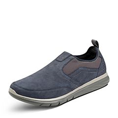 Puppies/暇步士秋季专柜同款深蓝色牛皮鞋休闲男鞋01712CM7