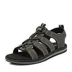 Hush Puppies/暇步士2018夏季新款专柜同款深灰色男士凉鞋H6I07BL8