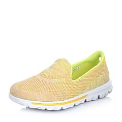 INNET/茵奈儿跑步休闲 Wind 系列黄色编织布女运动鞋92007BM5