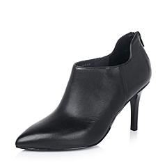 Joy&Peace/真美诗秋季专柜同款黑色小牛皮性感女满帮鞋ZL502CM5