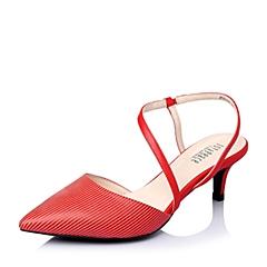 Joy&Peace/真美诗春季专柜同款红色时尚条纹细跟女凉鞋ZG116AH6