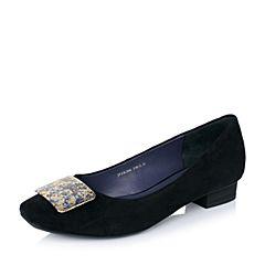Joy&Peace/真美诗秋季专柜同款黑色羊皮女单鞋ZK306CQ6