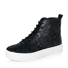 Joy&Peace/真美诗冬季专柜同款黑色时尚女休闲靴ZW722DD6