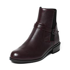 Joy&Peace/真美诗冬季专柜同款牛皮女靴短靴ZM229DD6