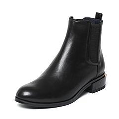 Joy&Peace/真美诗冬季专柜同款黑色牛皮女皮靴ZM224DD6