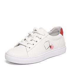 Joy&Peace/真美诗春季专柜同款白/红色女休闲单鞋ZW710AM7